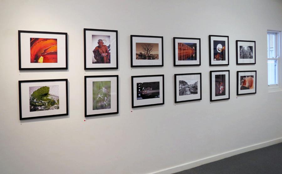 Mundaring Camera Club install east wall