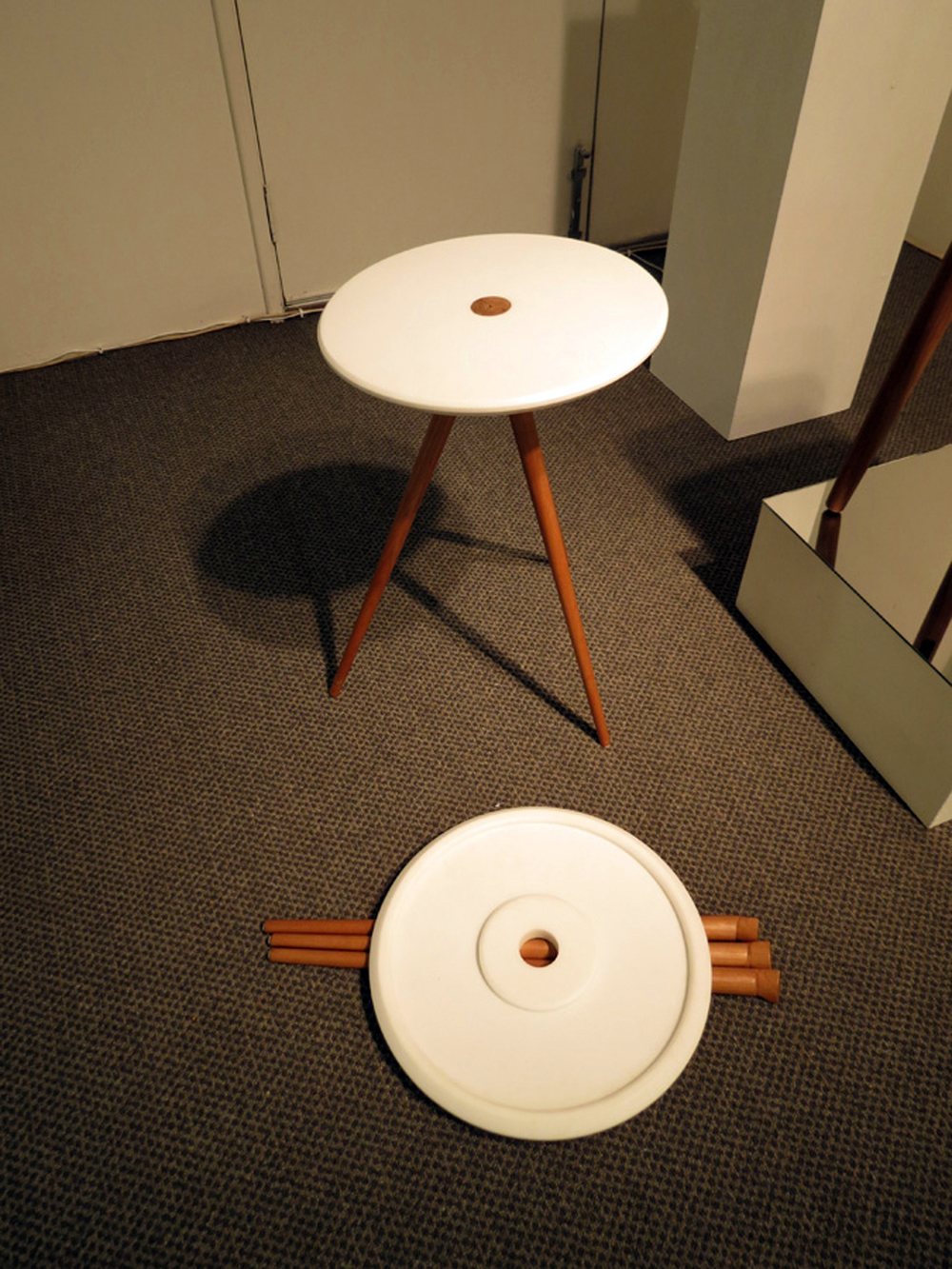 17.  .45,  Shannon Riddle, Corian, American Cherry table, $685