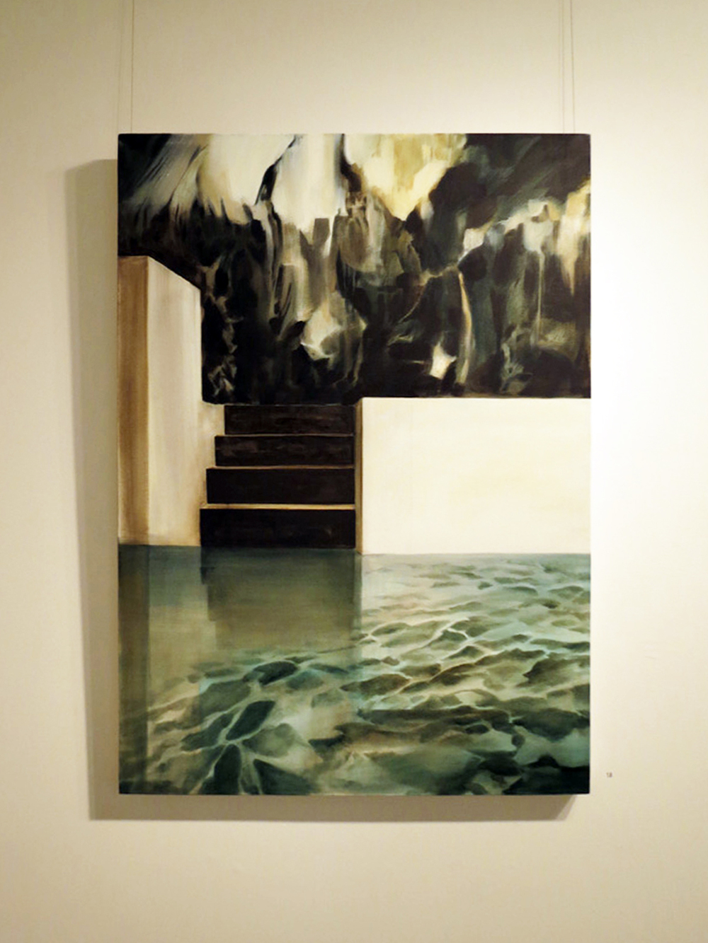 18.  Private Paradise , Fiona Harman, oil on canvas, $1600