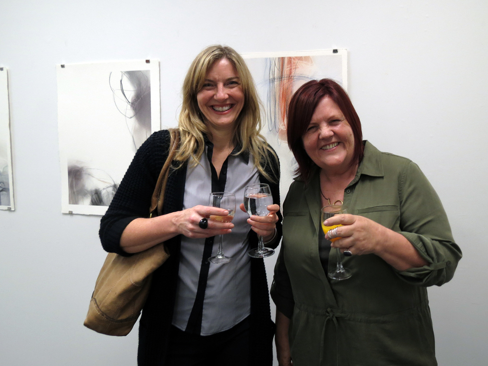 Gayle Mason and Sharon Dawes at opening
