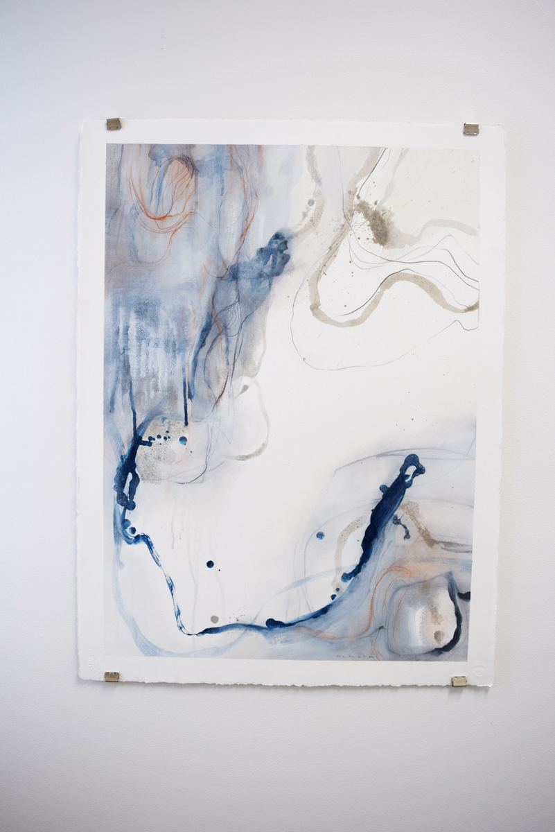 Tidal Movements , Gayle Mason, mixed media on paper, A1 unframed, $500