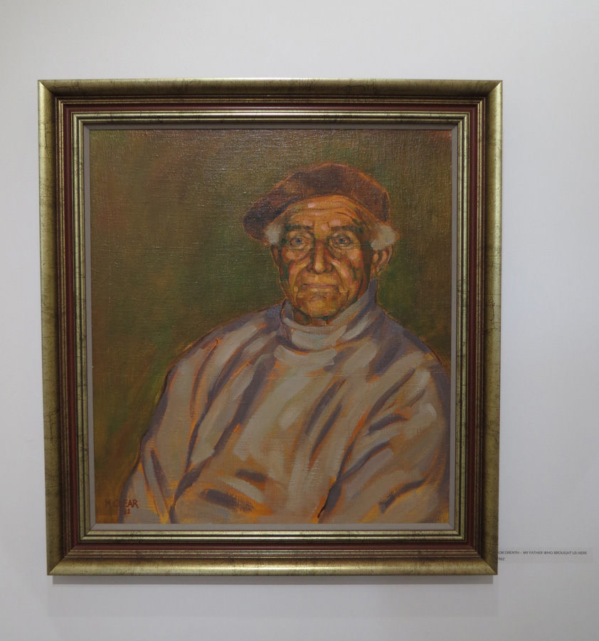 5. Madeleine Clear,  Bob Drenth - My Father Who Brought Us Here , oil on cotton on board, 1982, NFS
