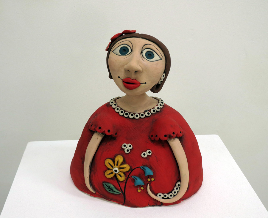 1. Louise Simonette, Lady Fleur , stoneware paperclay,NFS