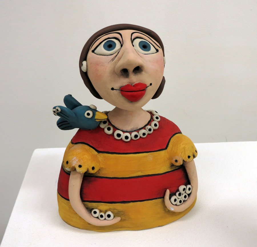 2. Louise Simonette,  A Little Bird Told Me , stoneware paper clay, $260