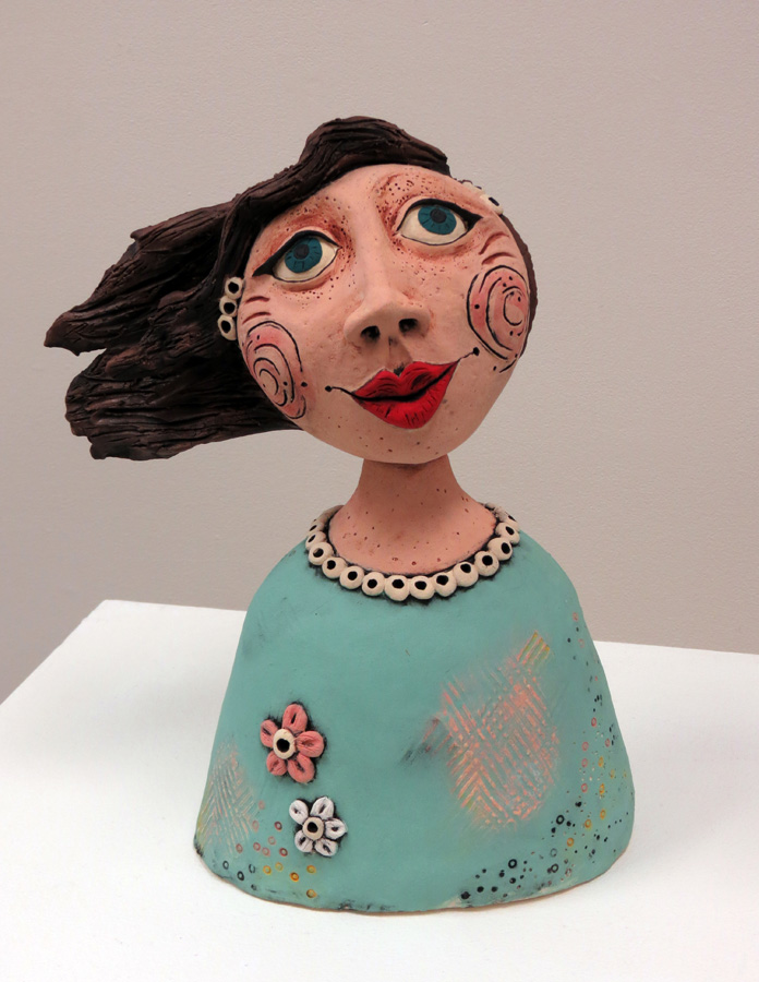 15. Louise Simonette,  Bernie In The Breeze , stoneware paper clay, $590