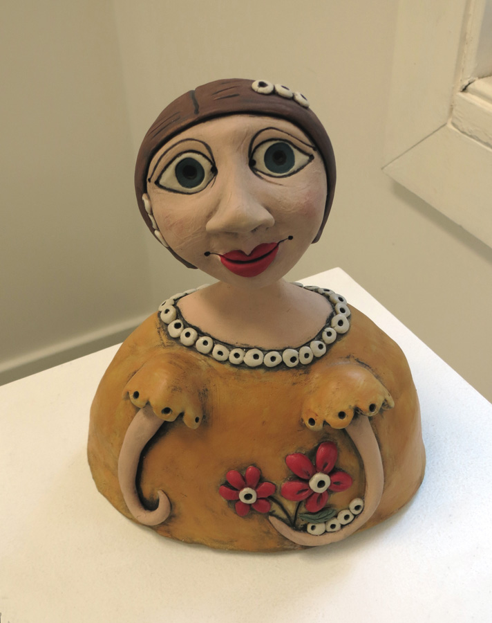 20. Louise Simonette,  Amity , stoneware paper clay,$260
