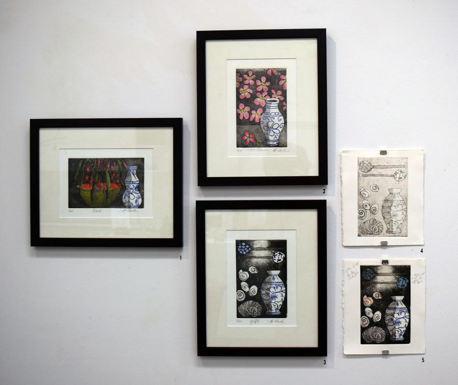 1 - 5. Helen Clarke etchings