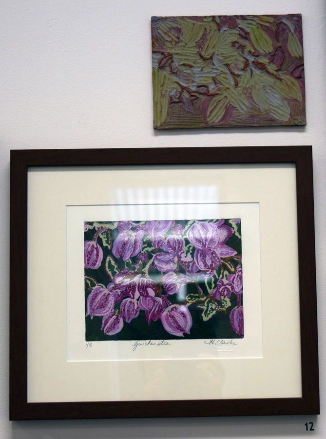 12. Helen Clarke,  Guichenotia , 1 of 8, linocut with plate $200
