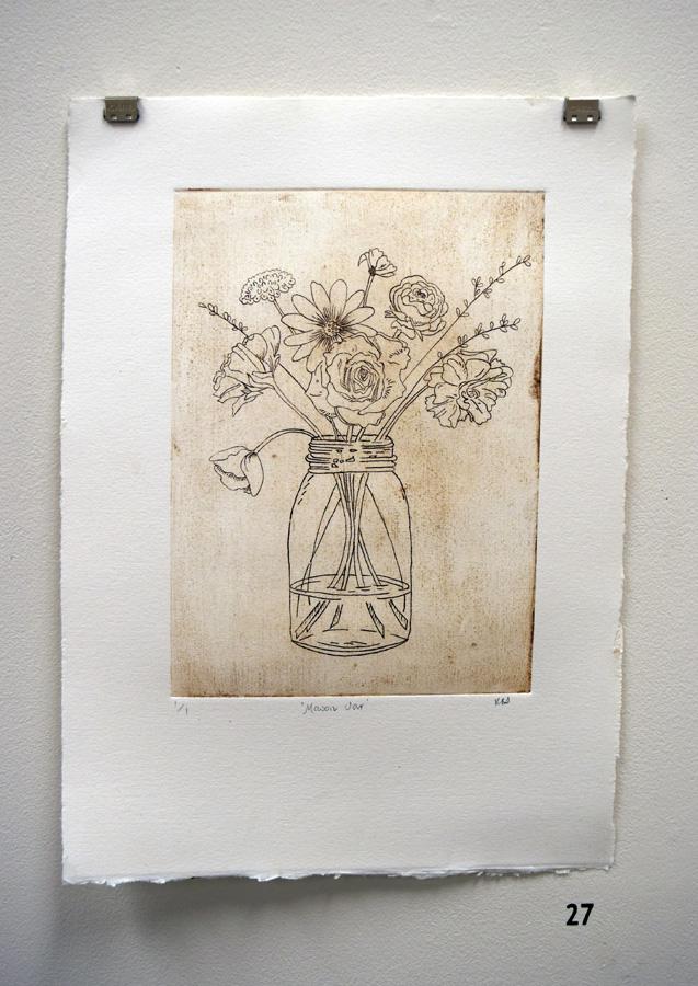 27. Kath Stanwix,  Mason Jar , etching,$80
