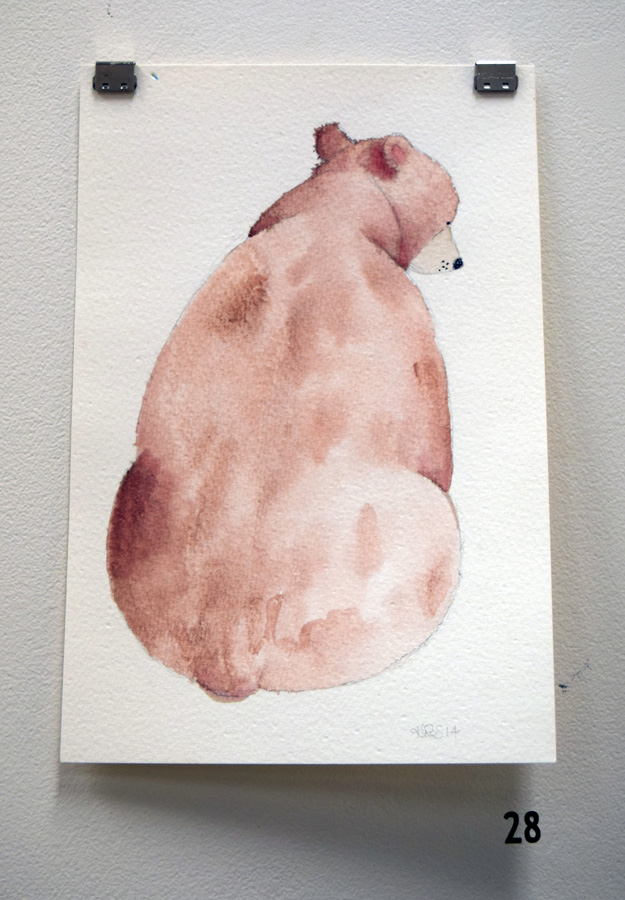 28. Kath Stanwix,  Bear , ink wash, $75