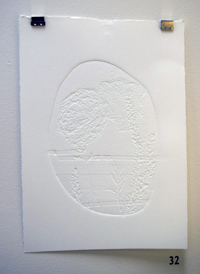 32. Kath Stanwix, Untitled II , collograph,$55