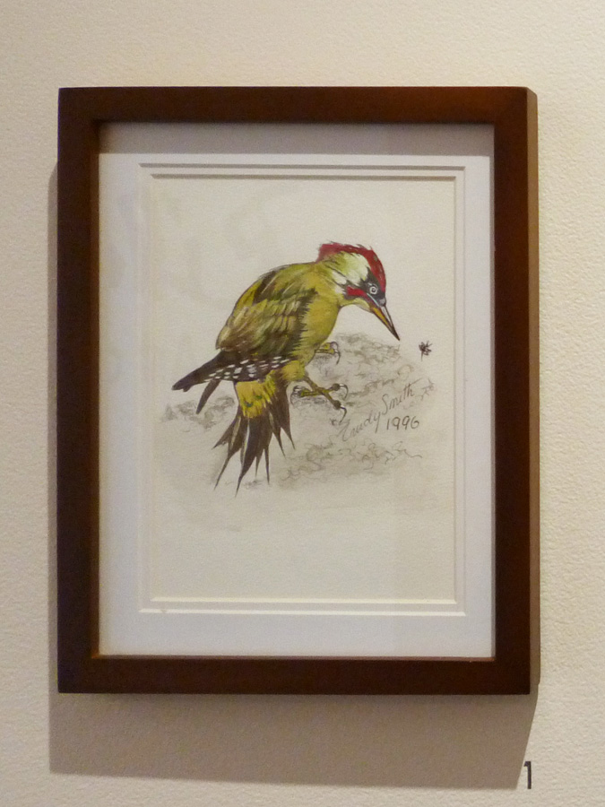 1. 'Bird 1', Trudy Smith, watercolour on paper, Private Collection