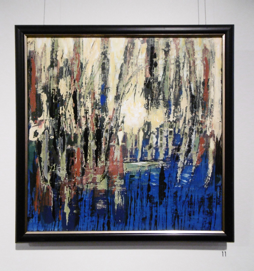 11. 'Blue Pond', Trudy Smith, peeled acrylic on canvas, $380