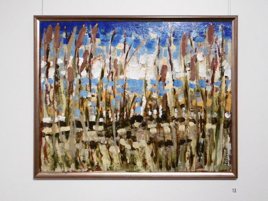 13. 'Bullrushes', Trudy Smith, acrylic on board, $380