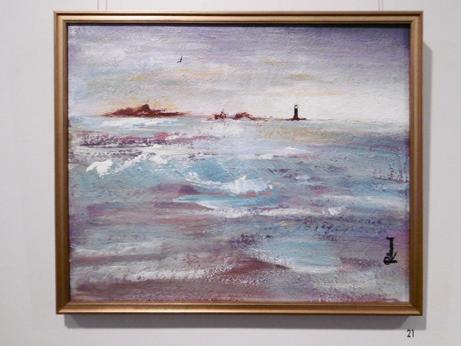 21. 'Stormy Weather', Trudy Smith, acrylic on canvas, $380