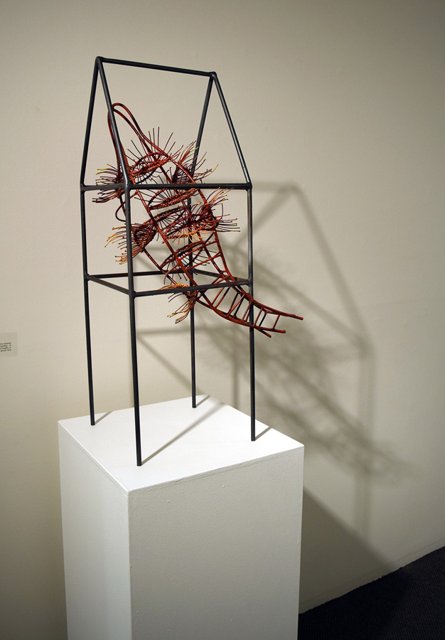 10. 'Home Sweet Home', Helen Seiver, steel, epoxy, $2,000