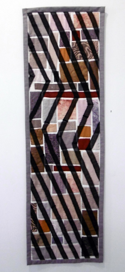 2. 'Shield', Anne Williams, cotton, silk, linen, $150