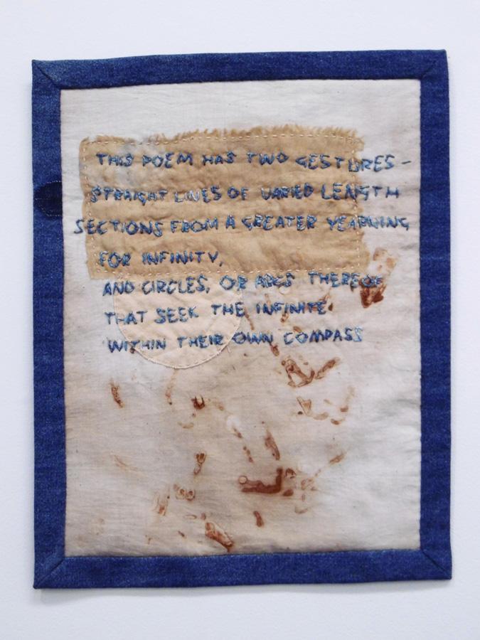 4. 'Untitled', Anne Williams, cotton, silk, $110