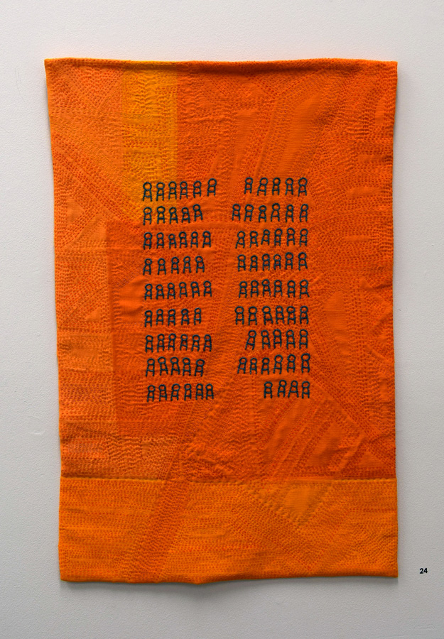 24. 'War', Anne Williams, silk, wool, cotton, $275