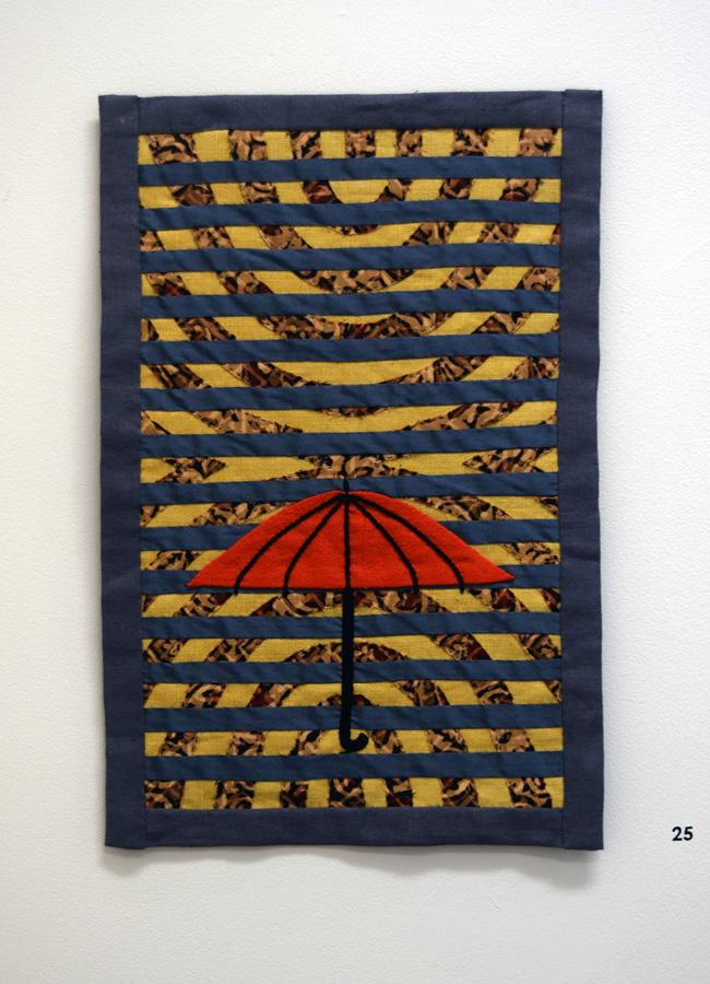 25. 'Untitled', Anne Williams, linen, cotton, silk, $120