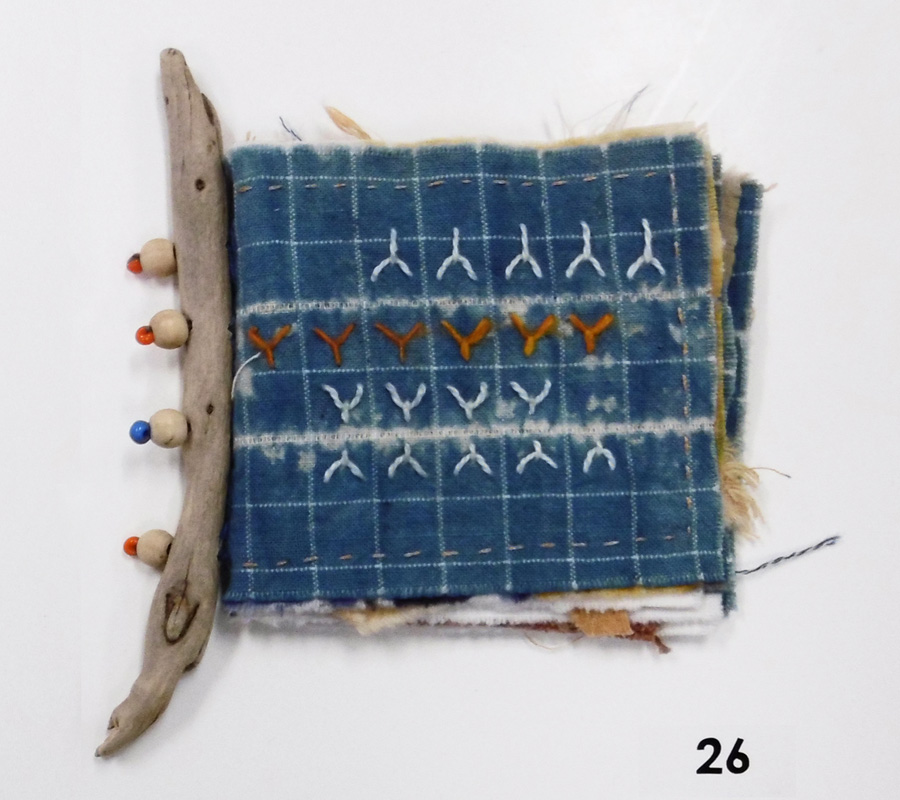 26. 'Untitled', Anne Williams, cotton, silk, beads, driftwood, $65