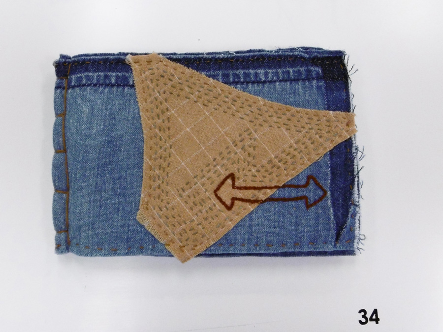 34. 'Endling', Anne Williams, recycled denim, hand dyed cotton, $90