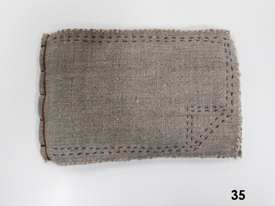35. 'Untitled', Anne Williams, linen, cotton, silk, $65
