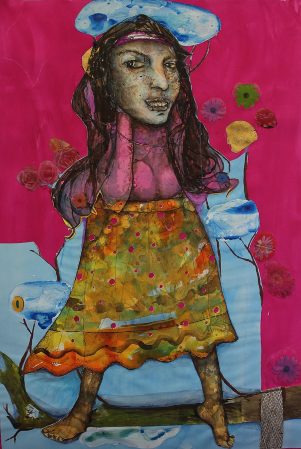4. 'Nana said it was ok to wee on the lemon tree', Antony Muia, mixed media on paper, $3,900.jpg