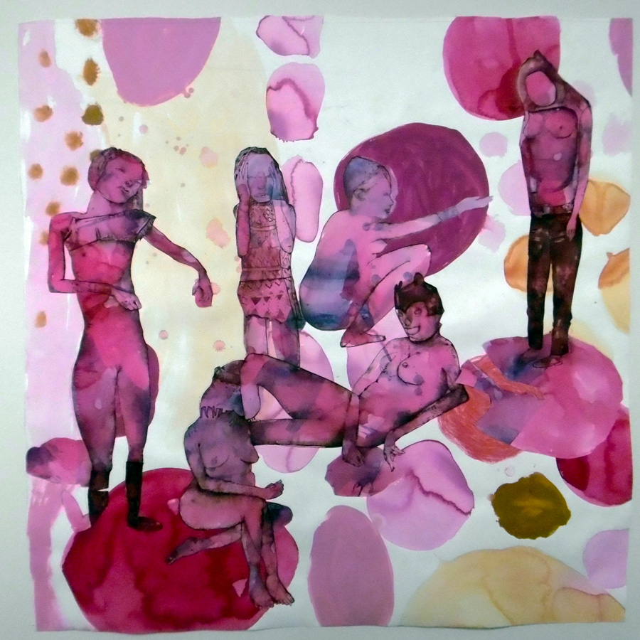 6. 'The Bewildered Herd', Antony Muia, mixed media on paper, $4,600