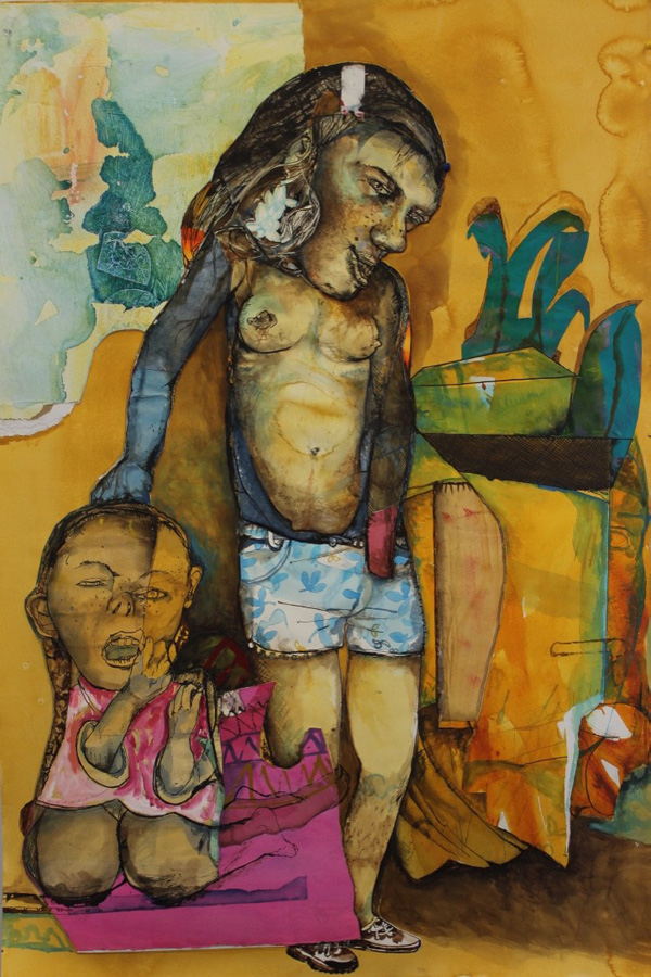 19. 'Is not the life more than meat, and the body more than raiment', Antony Muia, mixed media on paper, $3,900