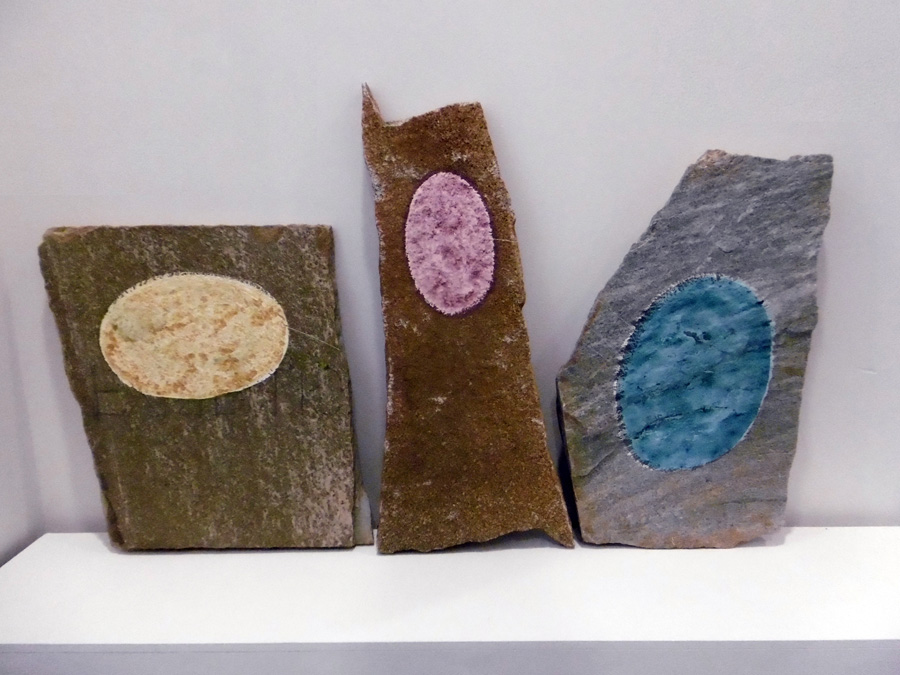 21. 'Stepping Stones 3', Antony Muia, acrylic on stone, $2,000