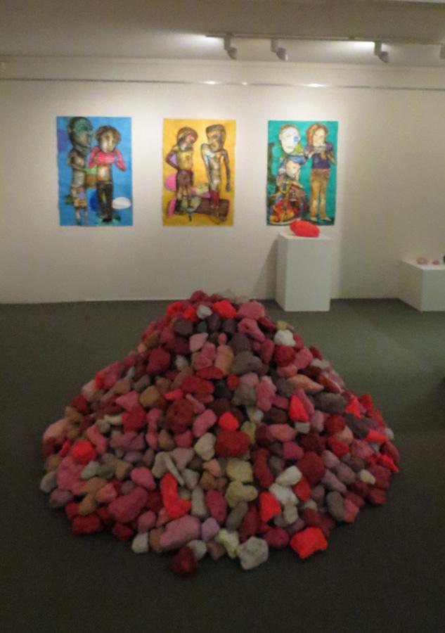 23. 'Stockpile II', Antony Muia, acrylic on stone, NFS