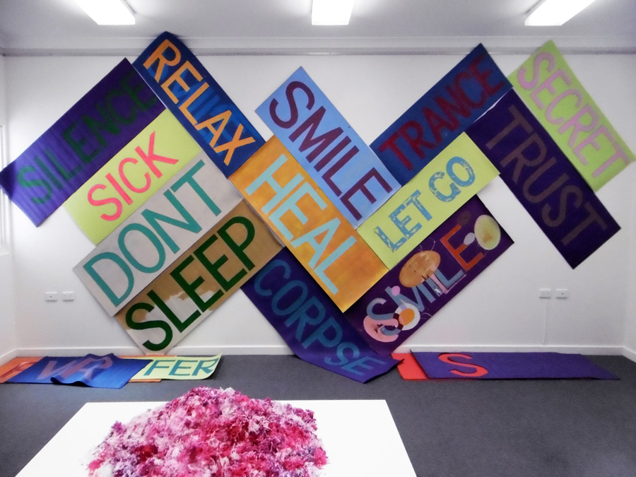 27. 'Heal', Antony Muia, acrylic on yoga mat installation, NFS