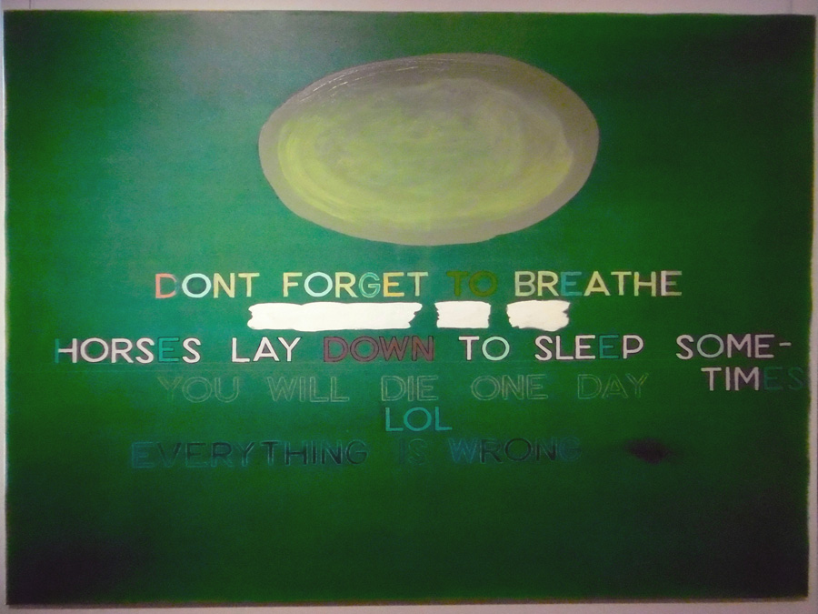 29. 'Don't forget to breathe', Antony Muia, acrylic on canvas, $4,200