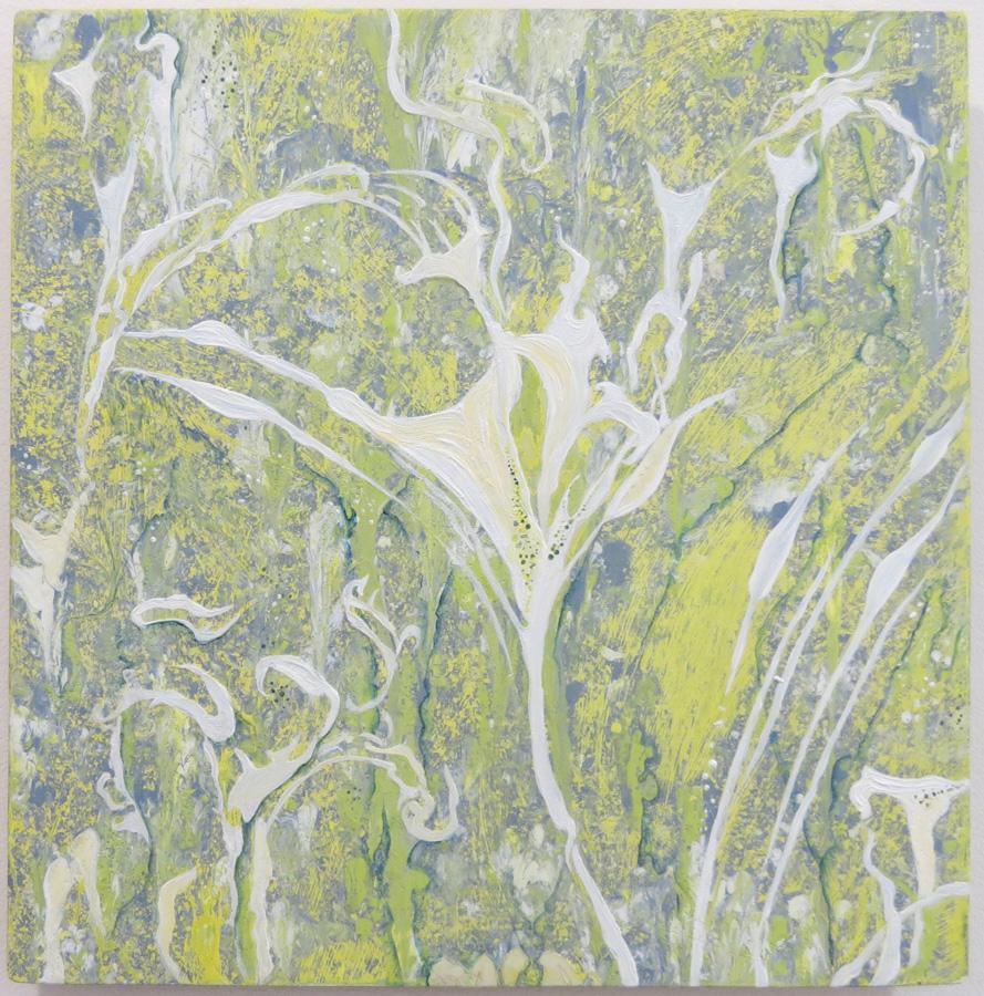 1. 'Spirit & Seed', Caroline Lyttle, oils on wood $450