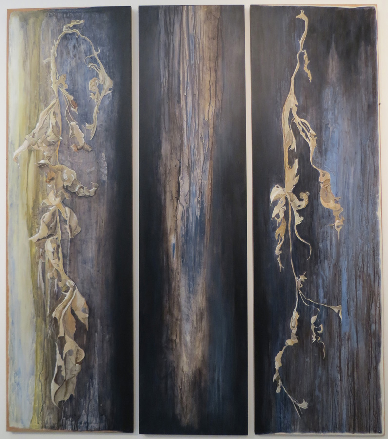 6. 'Open to Sadness' (triptych) Caroline Lyttle, acrylic on plywood doors, $3,000
