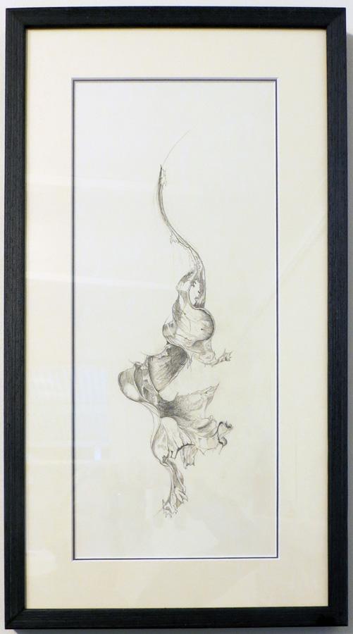 7. 'My Heart Left a Long Time Ago', Caroline Lyttle, lead pencil, $450