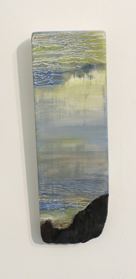 11. 'Waiting 2', Caroline Lyttle, oils on recycled wood, $140