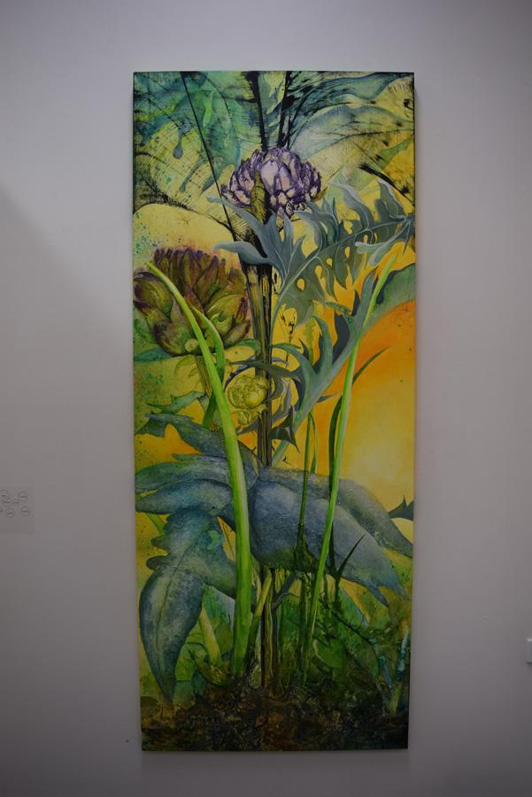 16. 'Returning to the Garden', Caroline Lyttle, mixed media on plywood door,$2,600