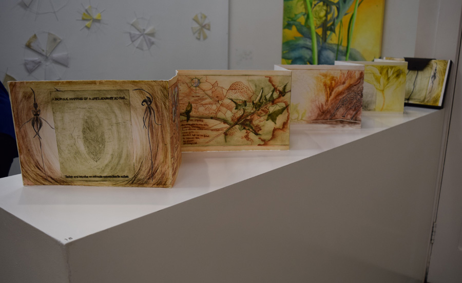 18. 'Biolific Journey of a Life so far', Caroline Lyttle, Artists Book-print, Chine-colle, NFS