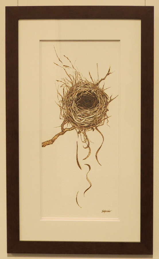 4. 'Nest', Sandie Schroder, burnt paper, $600
