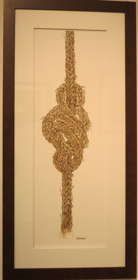 13. 'In Knots', Sandie Schroder, burnt paper, $650