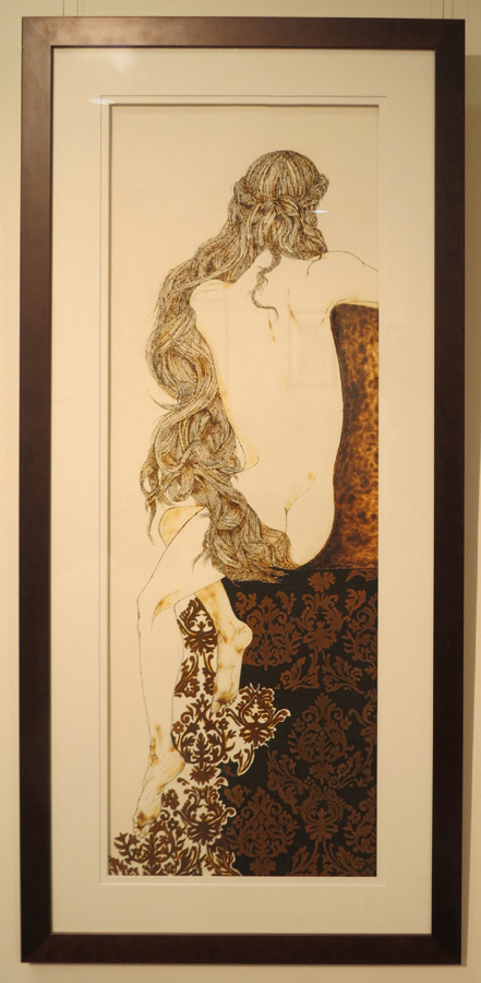 30. 'Elegance', Sandie Schroder, burnt paper and rust, $1,450