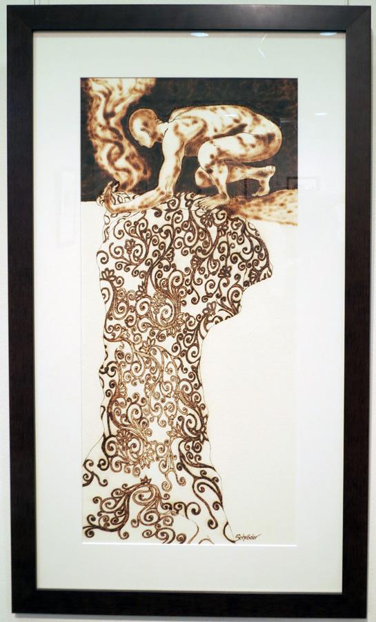 31. 'Homage to Oldrich Kulhanek', Sandie Schroder, burnt paper, $850