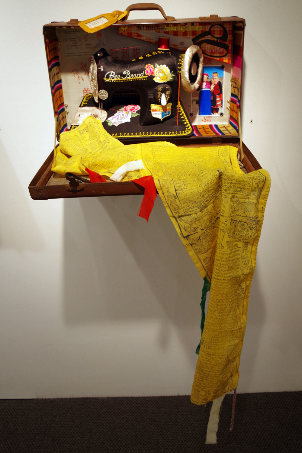 8. 'Lhasa, Tibet - 2007', Susie Vickery, embroidery, applique, found objects, $2,700