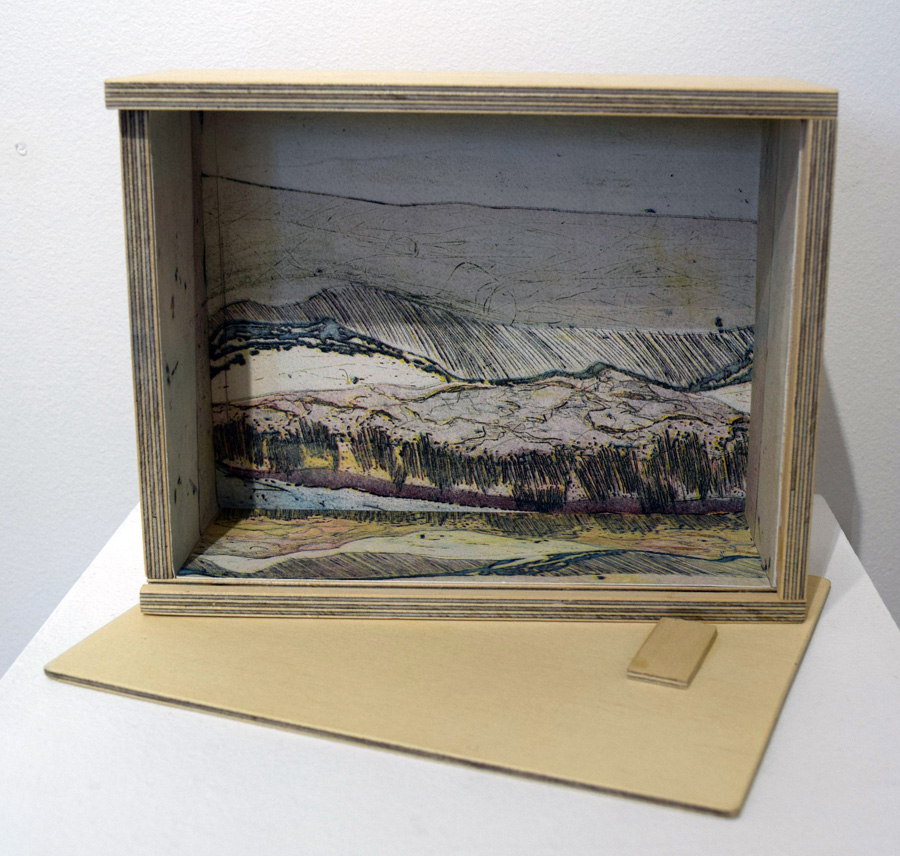 11. Helen Clarke, 'Tied Up' box, print, found objects