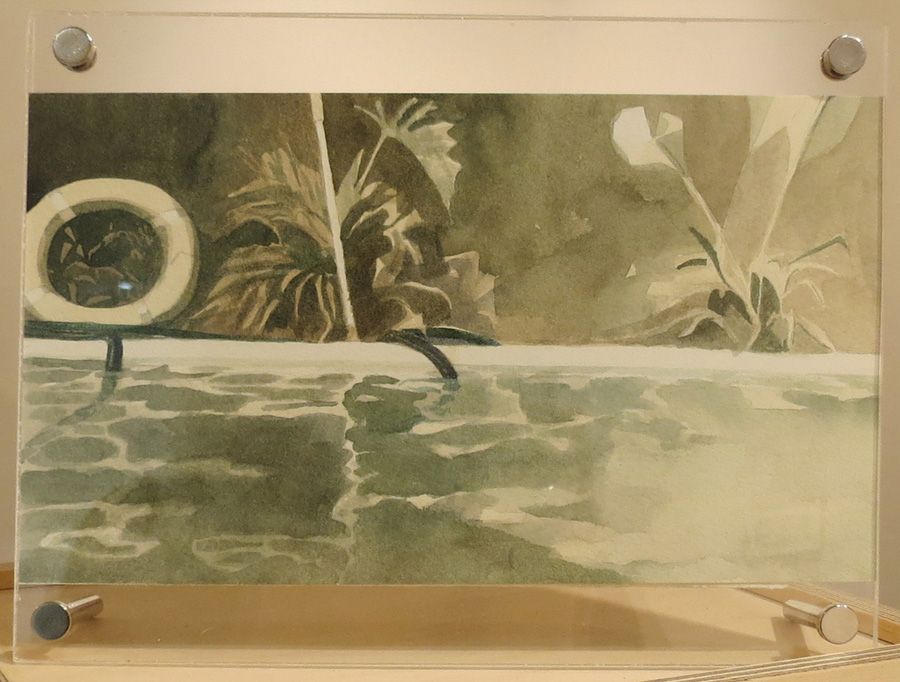 13. Fiona Harman, 'Study for Rubber Ring (Reflection)', watercolour, gouache on paper