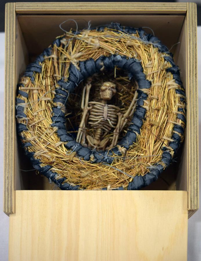 20. Nalda Searles, 'Eternity', grass, silk, bones (plastic), precious lapis stone