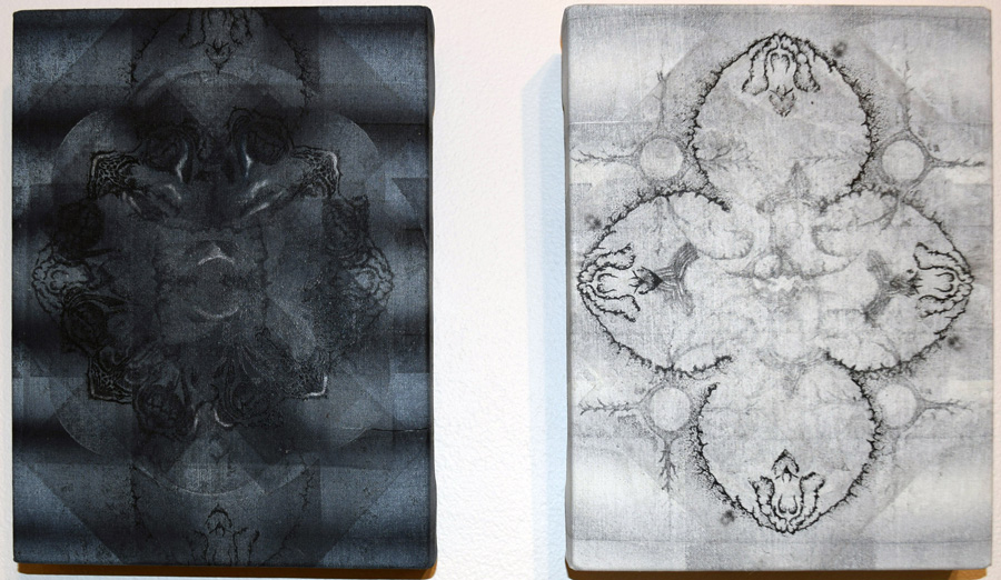 27. Sue Starken, 'Untitled', block relief, Unique State etching on Belgian linen