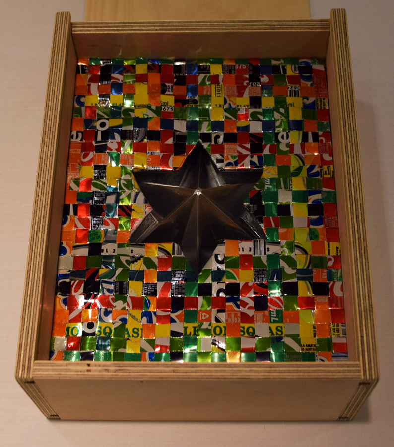 26. Joan Johnson, 'Emer(g-s)ing Star', upcycled aluminium drink cans